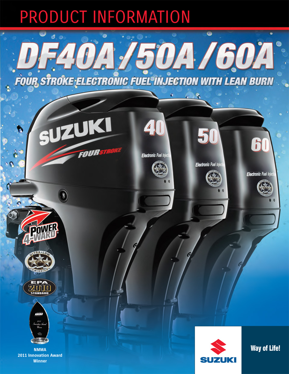 буклет Product Information Suzuki df50a and df60a